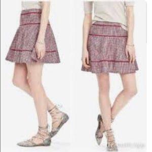 Banana Republic NEW Pink Tweed Skater Flare Skirt